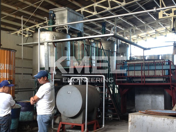 5TPD fish oil refinery production line in Philippines