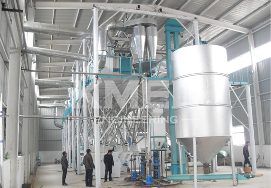 corn flour milling plant full view