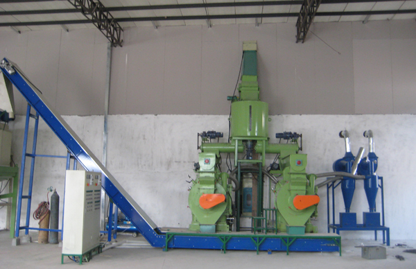 ring die sawdust pellets mill production line