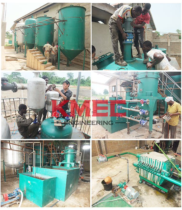 soybean oil mill plant installation in Ghana
